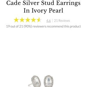 Kendra Scott Silver Stud Ivory Mother of Pearl